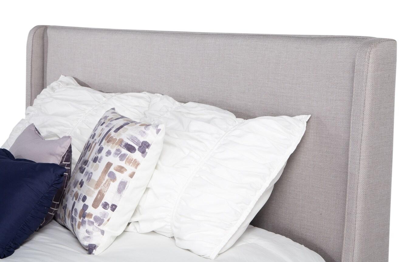 Copenhagen Twin Gray Upholstered Bed