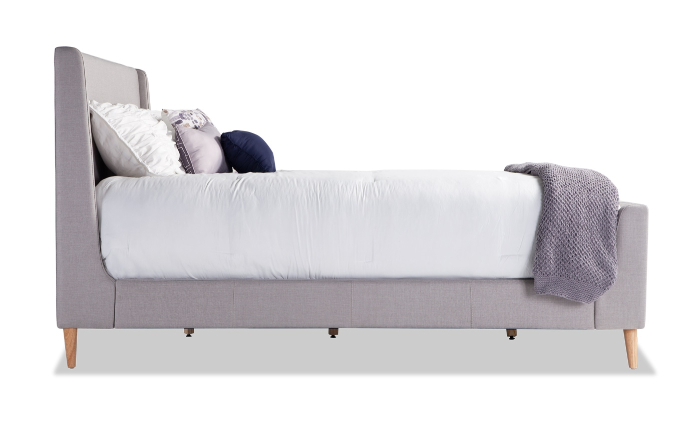 Copenhagen King Gray Upholstered Bed