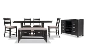 Elevations 7 Piece Counter Set with Server & Storage Bench