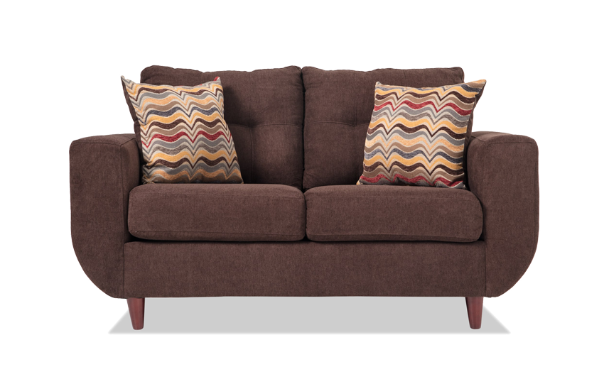Cecil Chocolate Loveseat