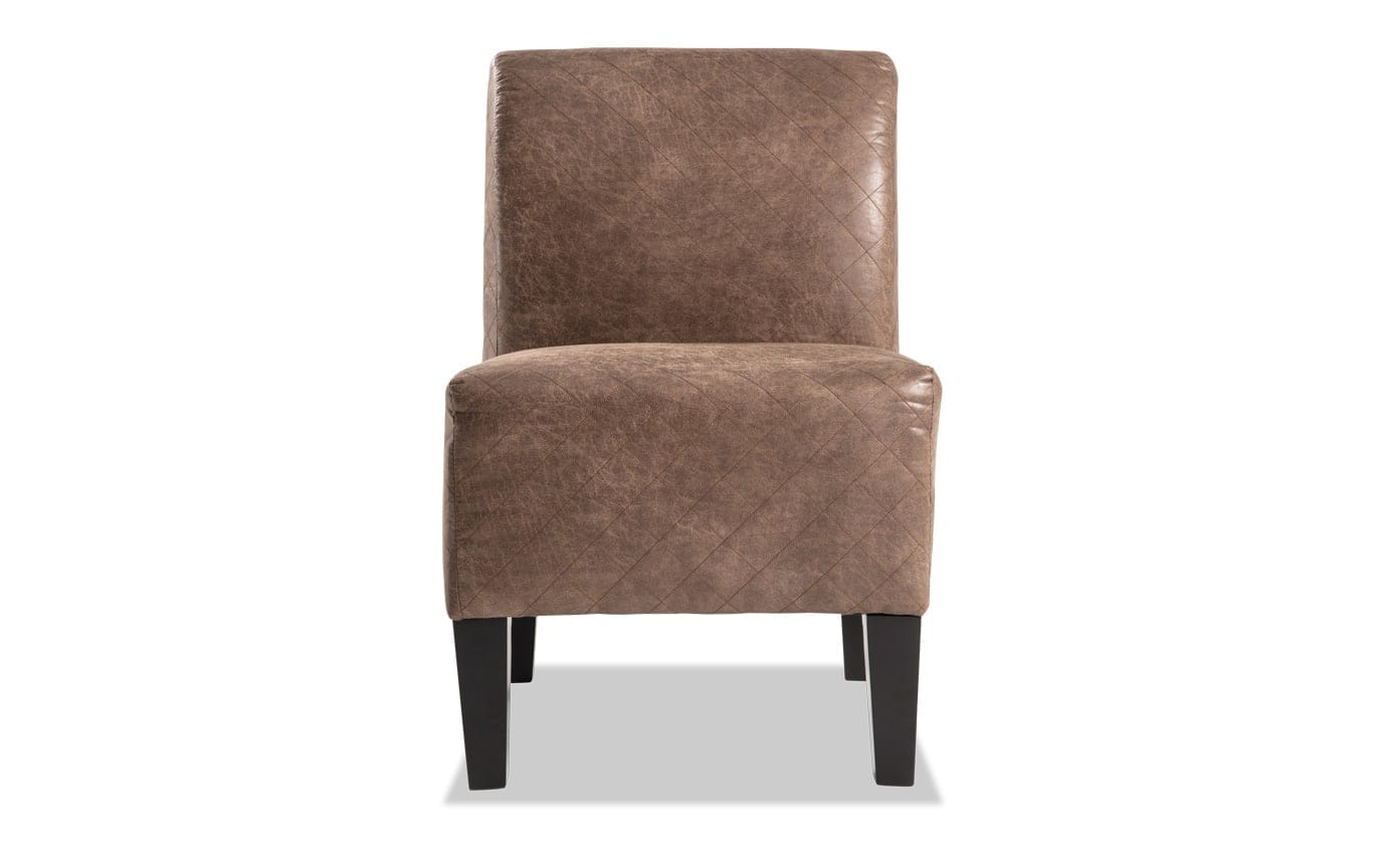 Abby Diamond Brown Armless Chair