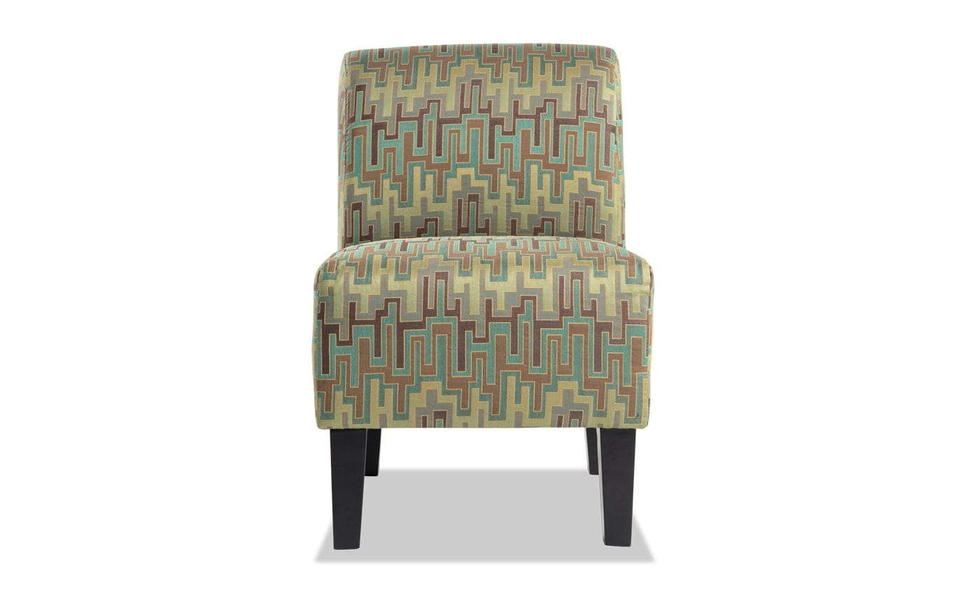 Abby Green Armless Chair