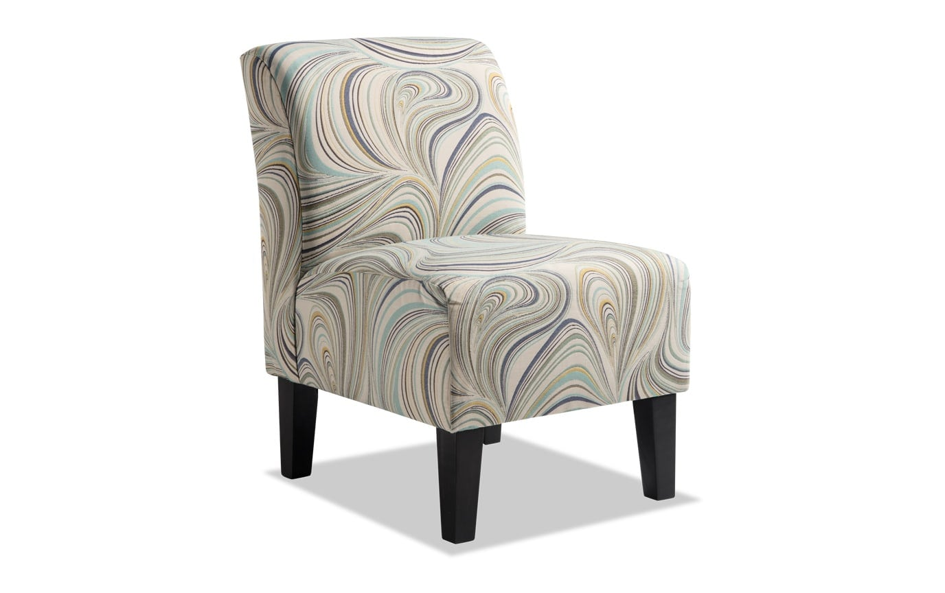 Abby Retro Swirls Armless Chair