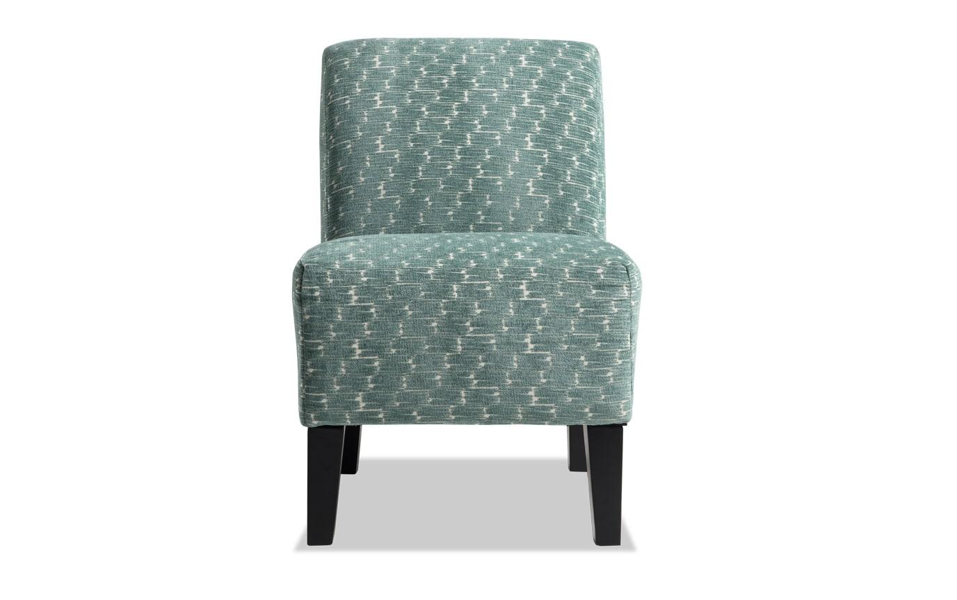 Abby Sea Green Armless Chair