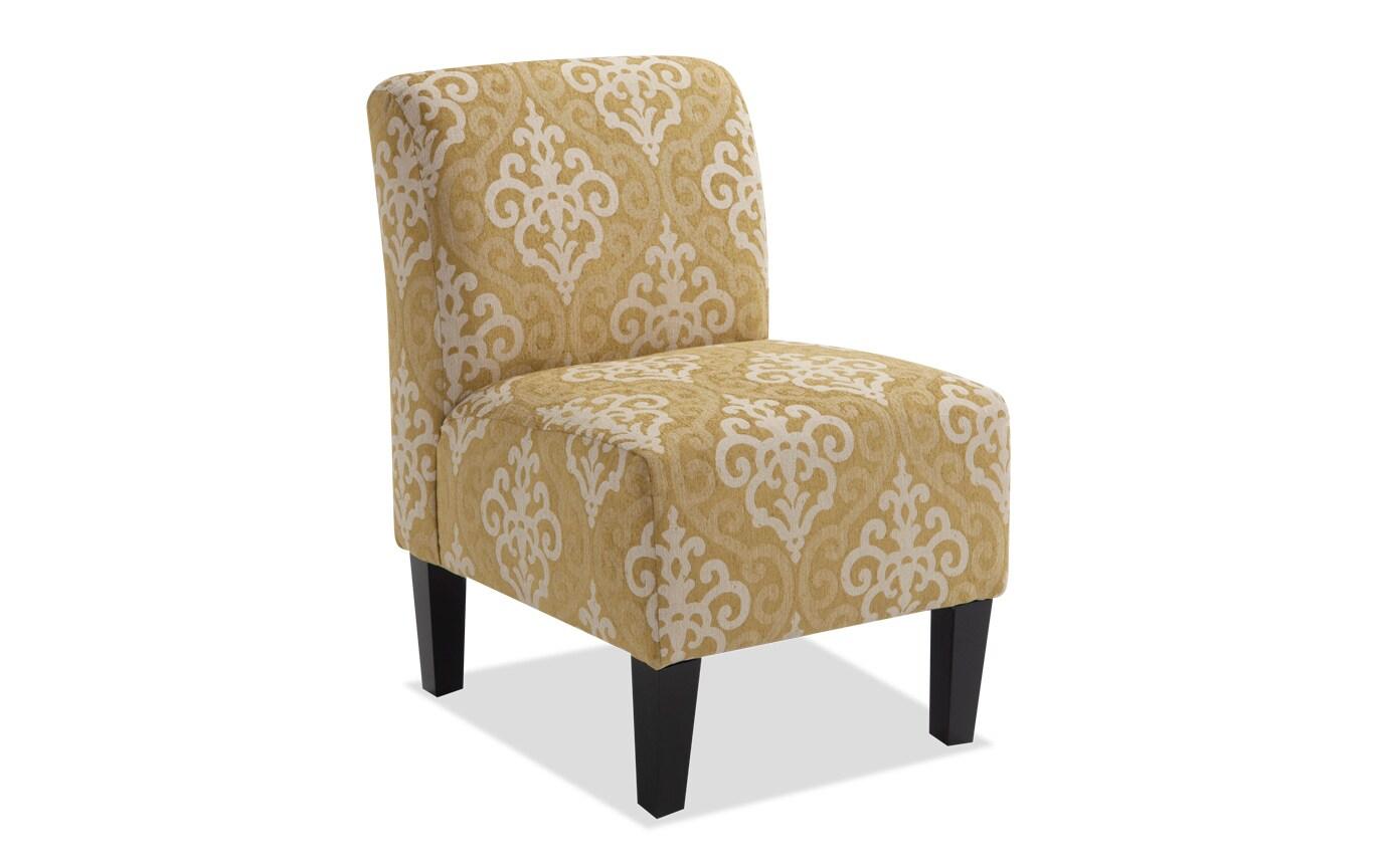Abby Gold Armless Chair