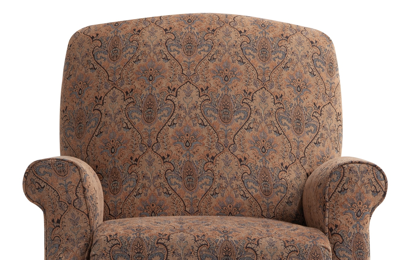Rae Tan Floral Push Back Recliner