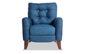 Maya Denim Push Back Recliner