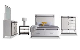 Montana King White Storage Bedroom Set