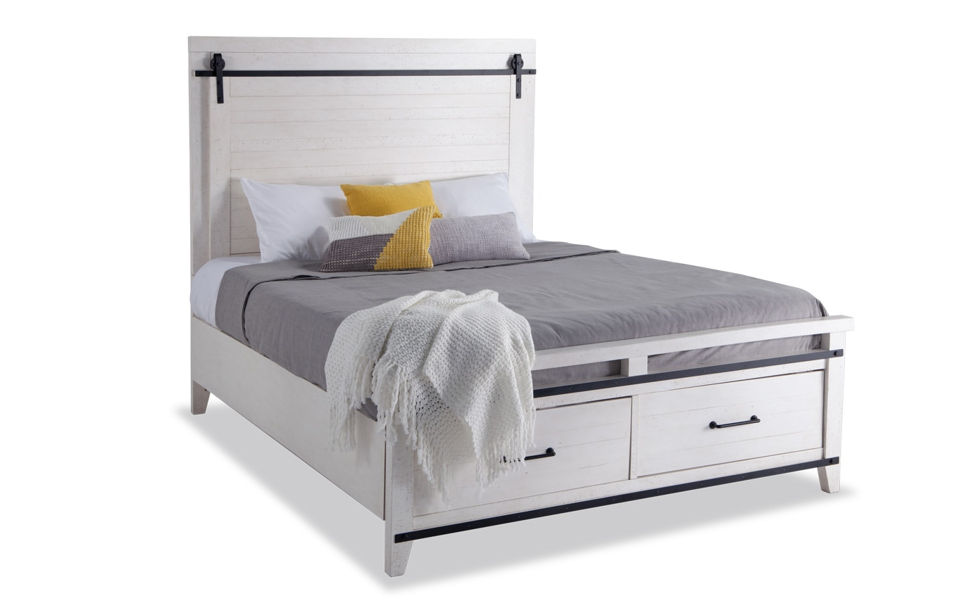 Montana Full White Storage Bedroom Set