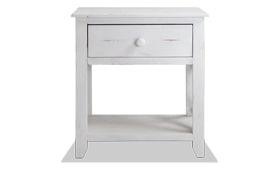 Nora White Criss-Cross Side Table