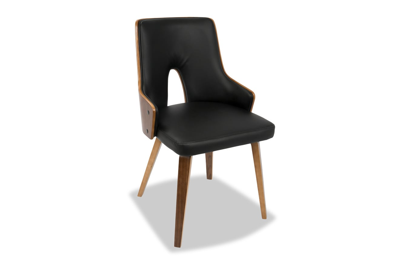 Set of 2 Spencer Faux Leather Dining Chairs