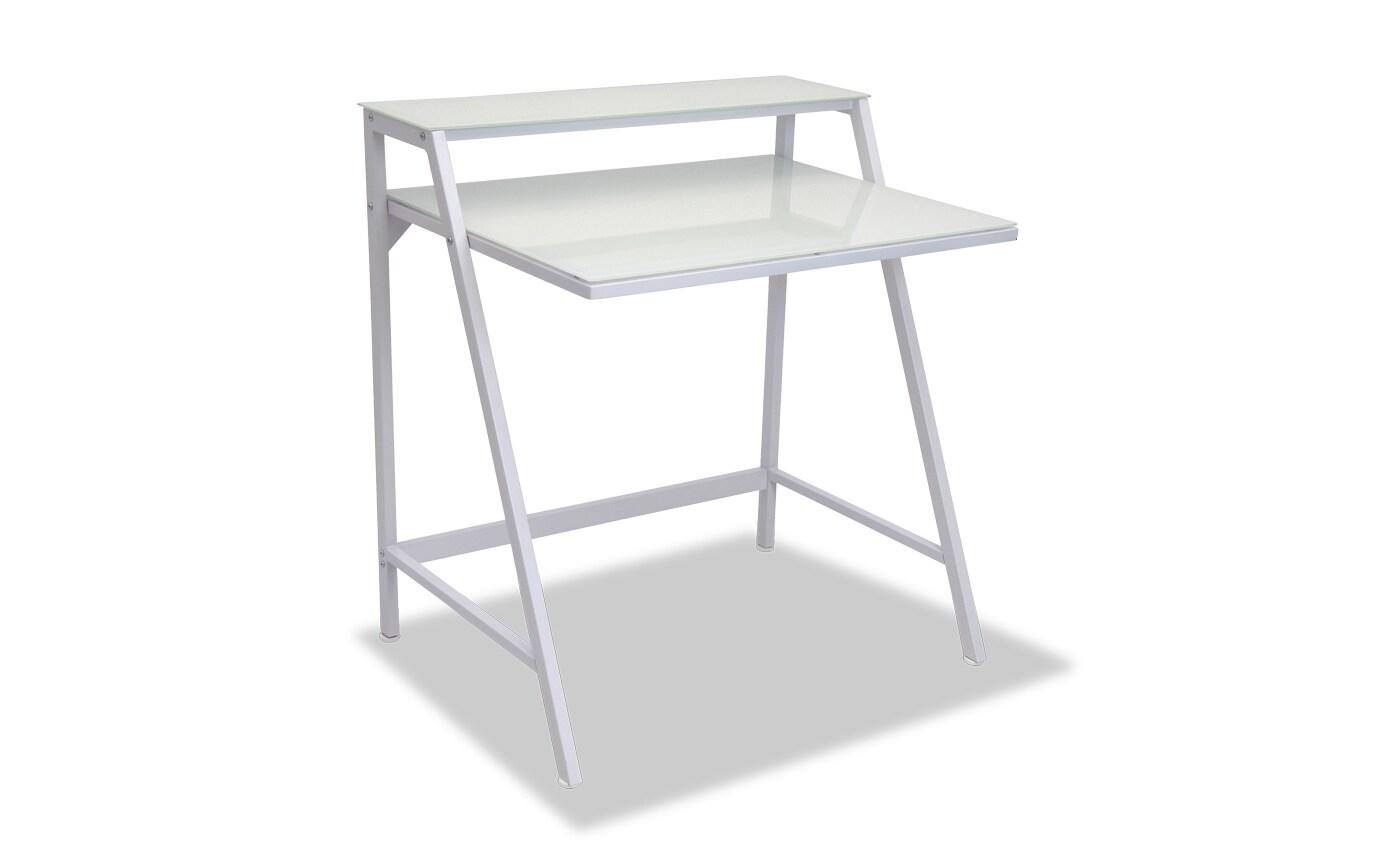 Renata White Two Tier Desk