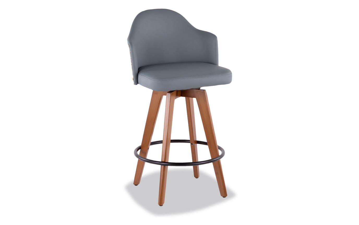 Maud Faux Leather Counter Stool