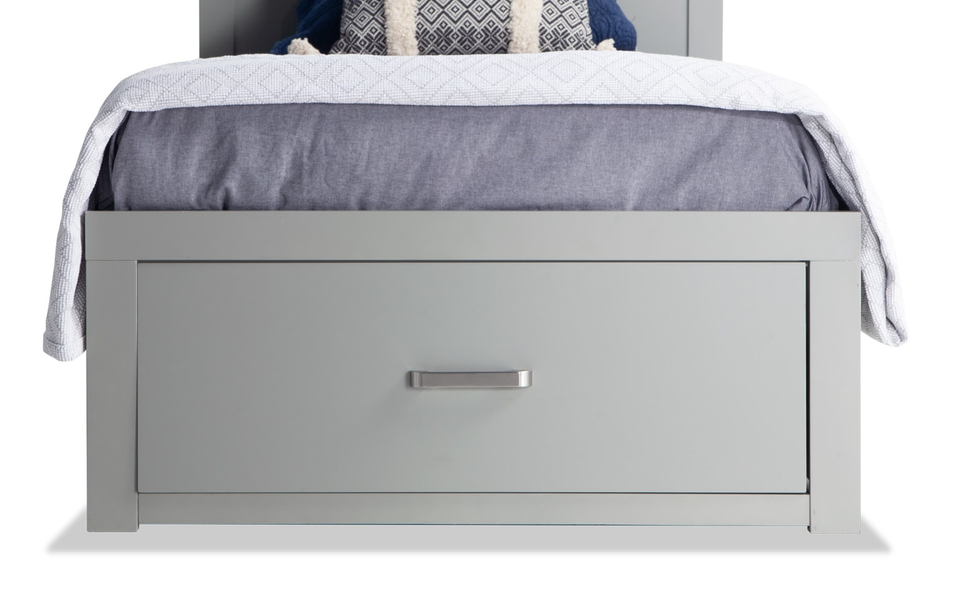 Dalton Twin Gray Storage Bed