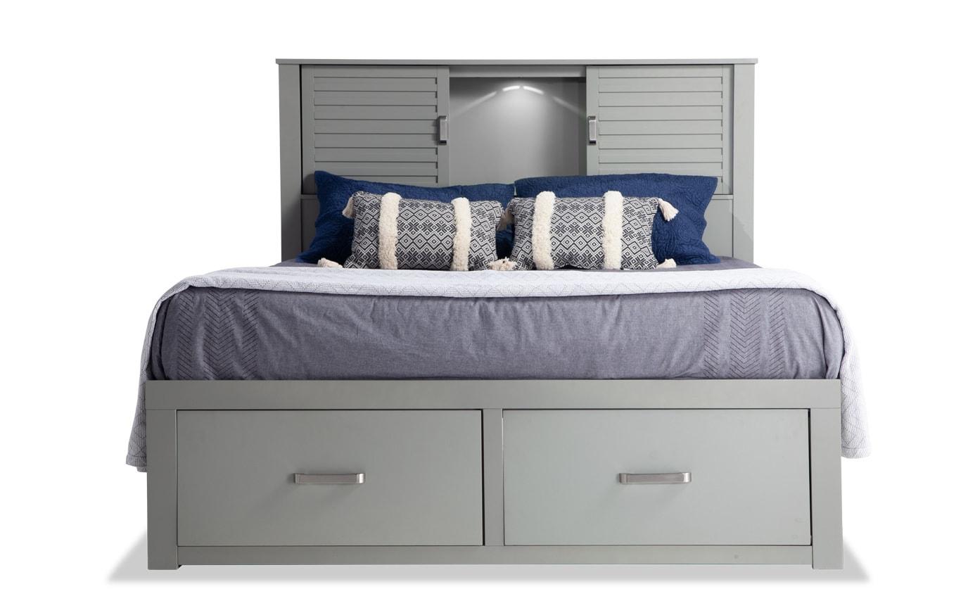Dalton Full Gray Storage Bed