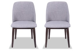 Sara Light Gray Dining Chair Set of 2