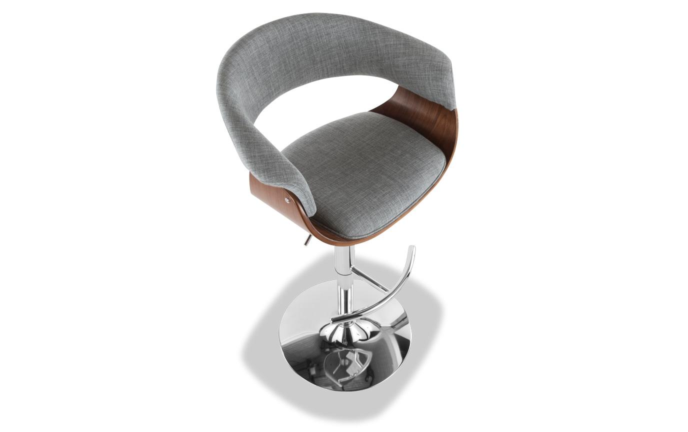 Mid-Century Mod Adjustable Swivel Bar Stool