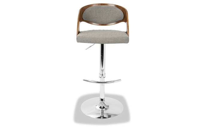 Chrissy Adjustable Swivel Leather Bar Stool