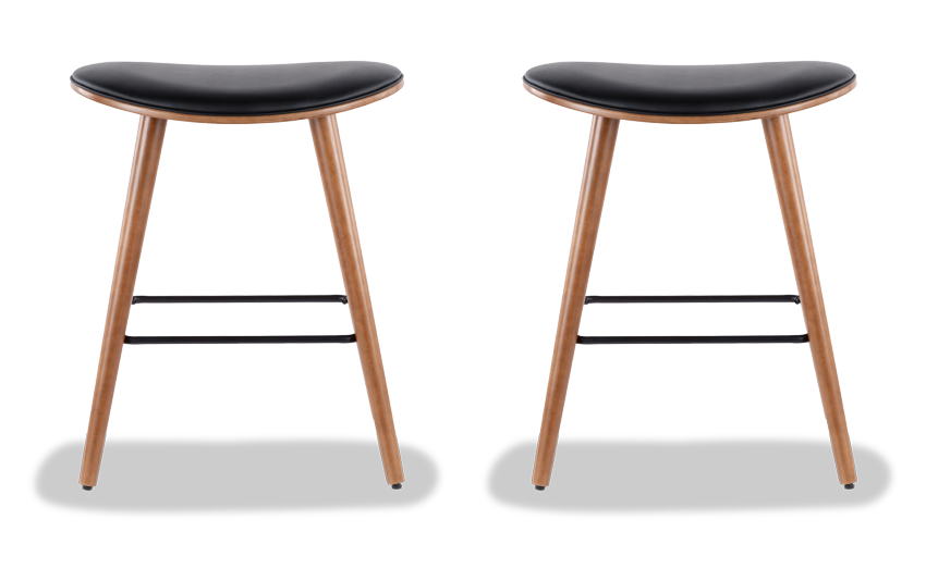 Set of 2 Katy Faux Leather Counter Stools