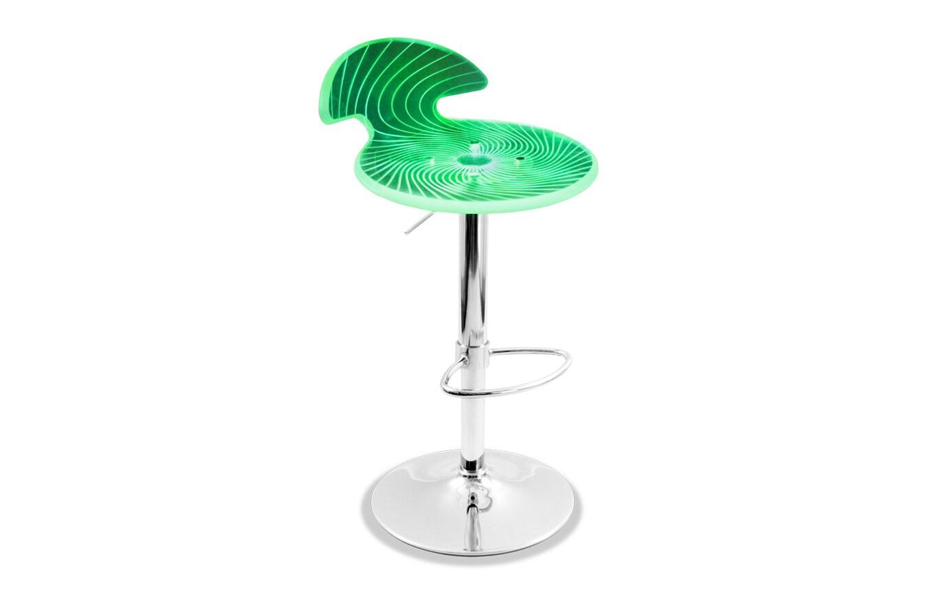 Light Up Adjustable Bar Stool