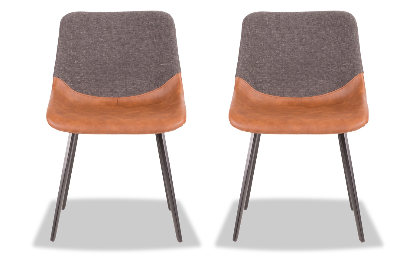 Set of 2 Mac Faux Leather Chairs