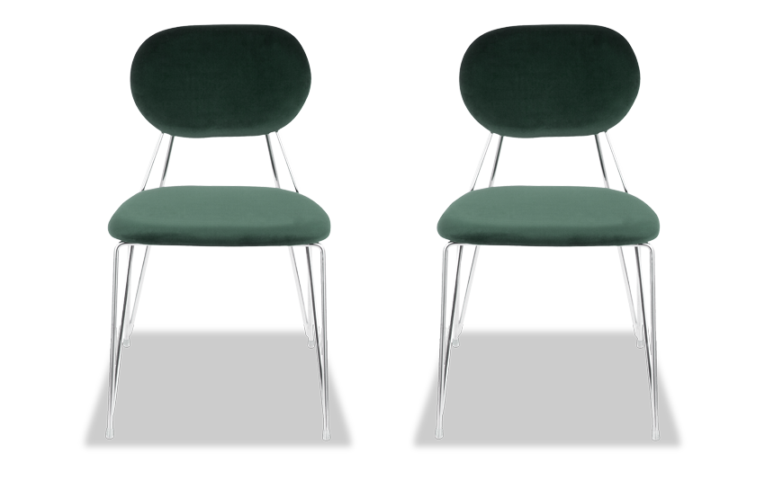 Set of 2 Aurora Velvet Chairs