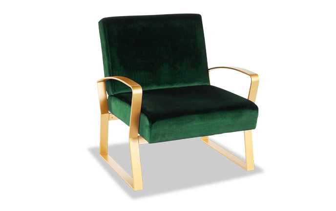 Toshe Velvet Lounge Chair