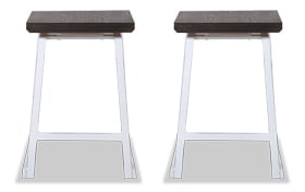 Set of 2 Gianni Counter Stools