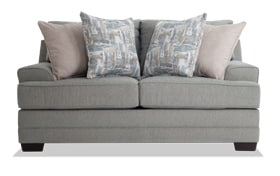 Harmony Sea Foam Blue Loveseat