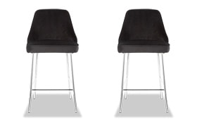 Set of 2 Sammie Velvet Counter Stools