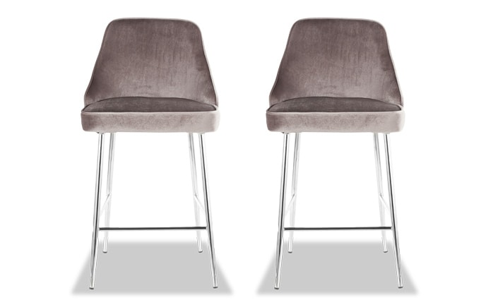 Set of 2 Sammie Faux Leather Counter Stools