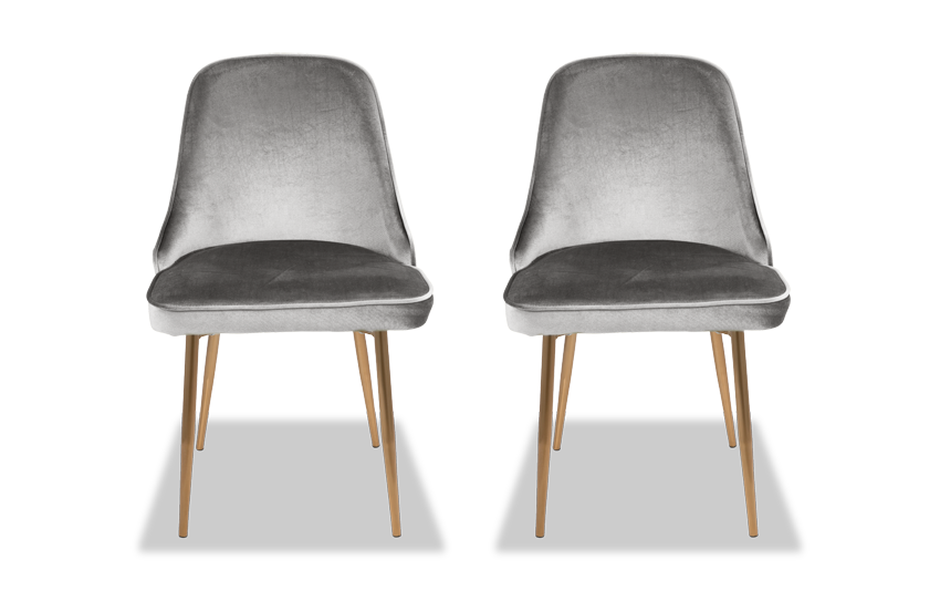 Set of 2 Sammie Velvet Dining Chairs