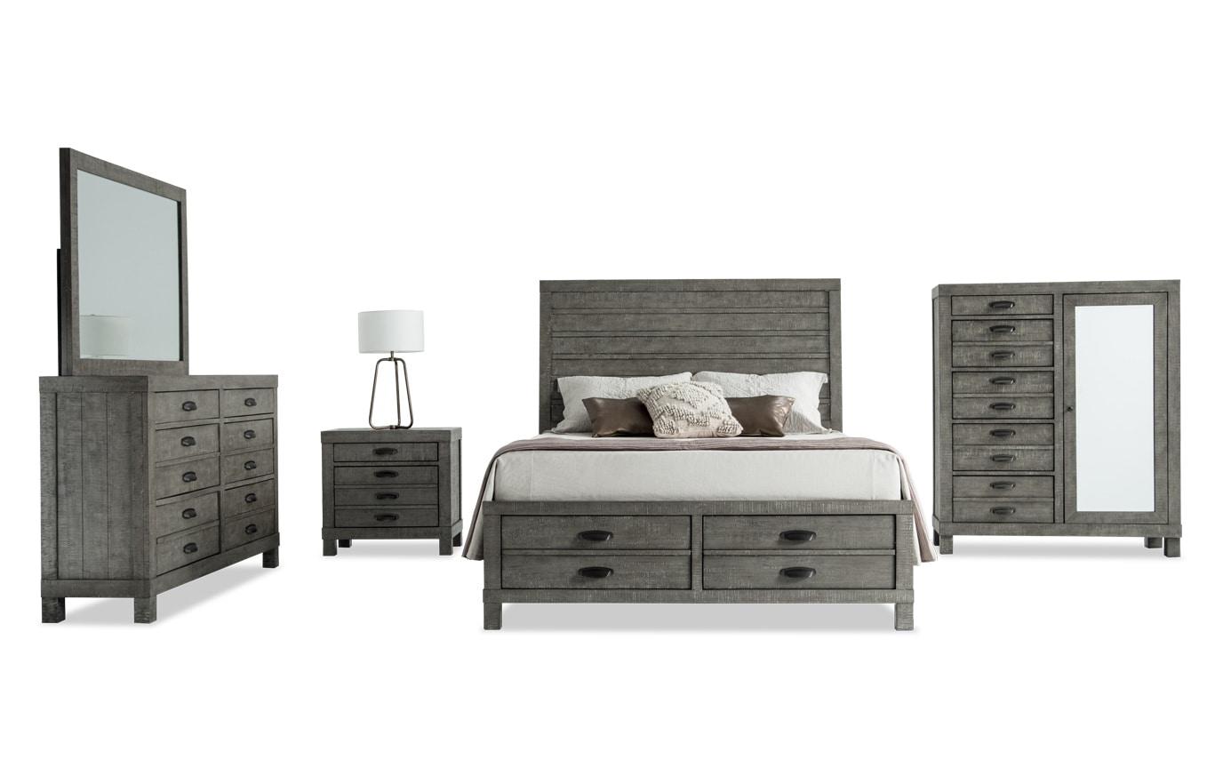 Townsend Queen Bedroom Set | Bobs.com