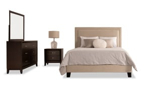 Tremont King Beige Upholstered Bedroom Set