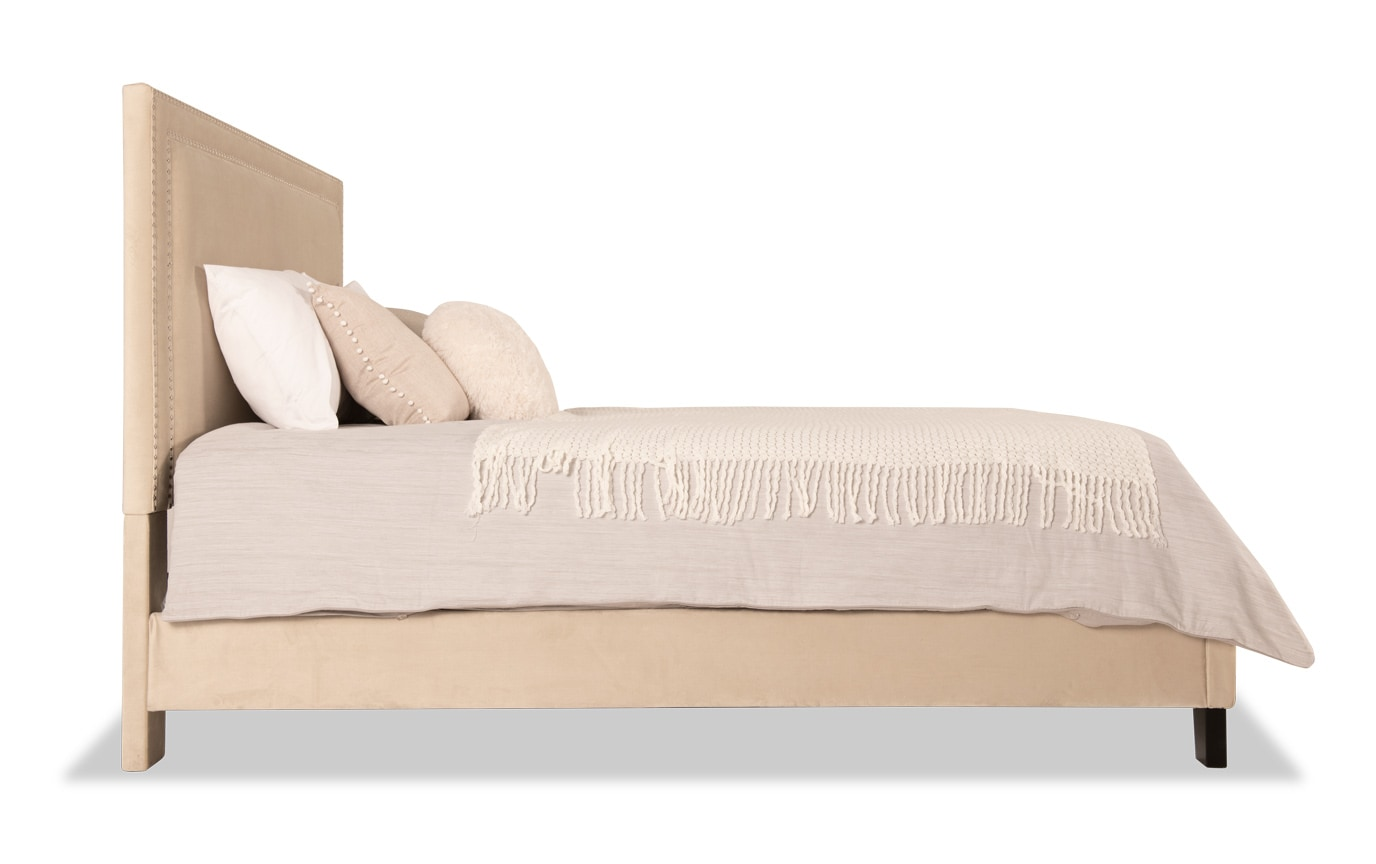 Tremont California King Beige Upholstered Bedroom Set