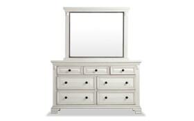 Palisades White Dresser & Mirror