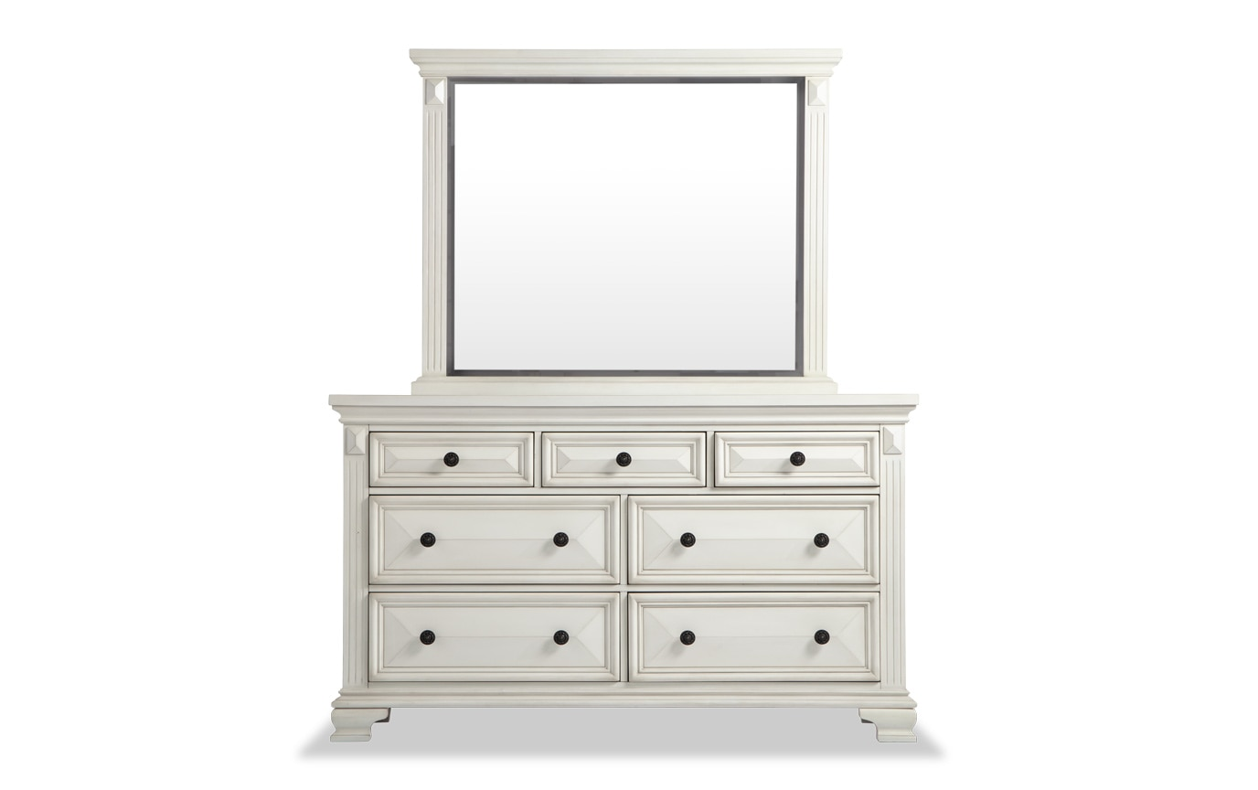 Palisades King White Storage Bedroom Set
