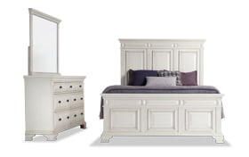 Palisades Queen White Storage Bedroom Set