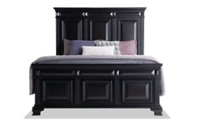 Palisades Queen Black Storage Bed