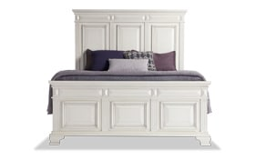 Palisades Queen White Storage Bed