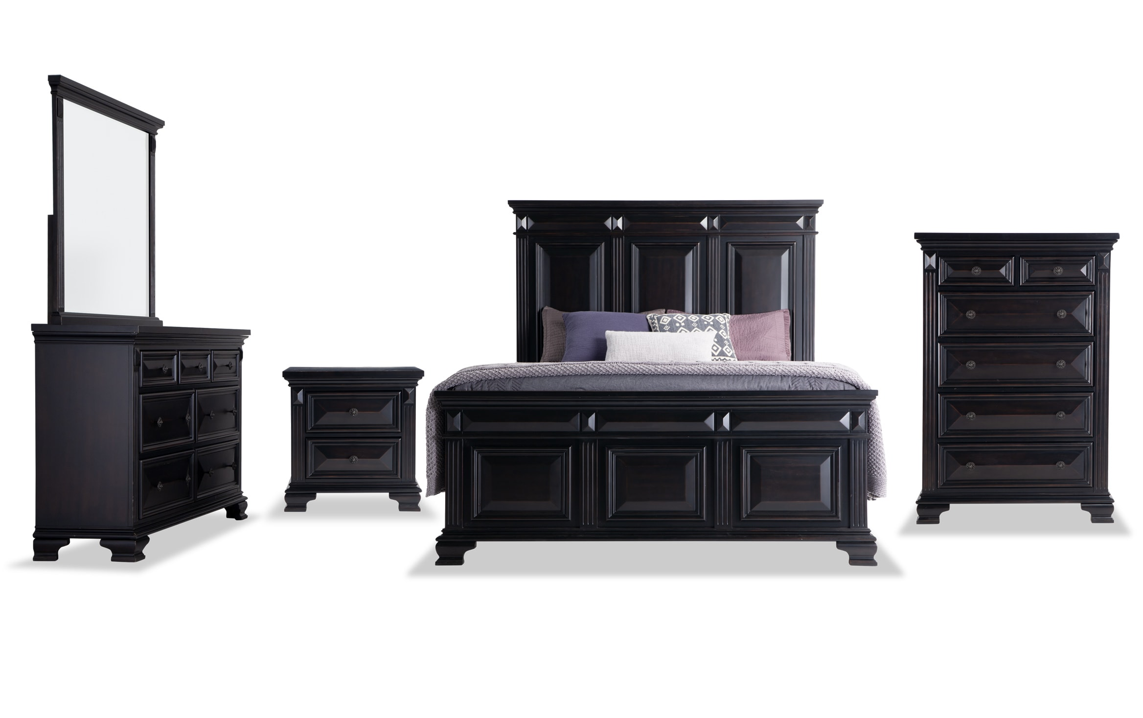 Palisades Queen Black Storage Bedroom Set Outlet Bobs Com