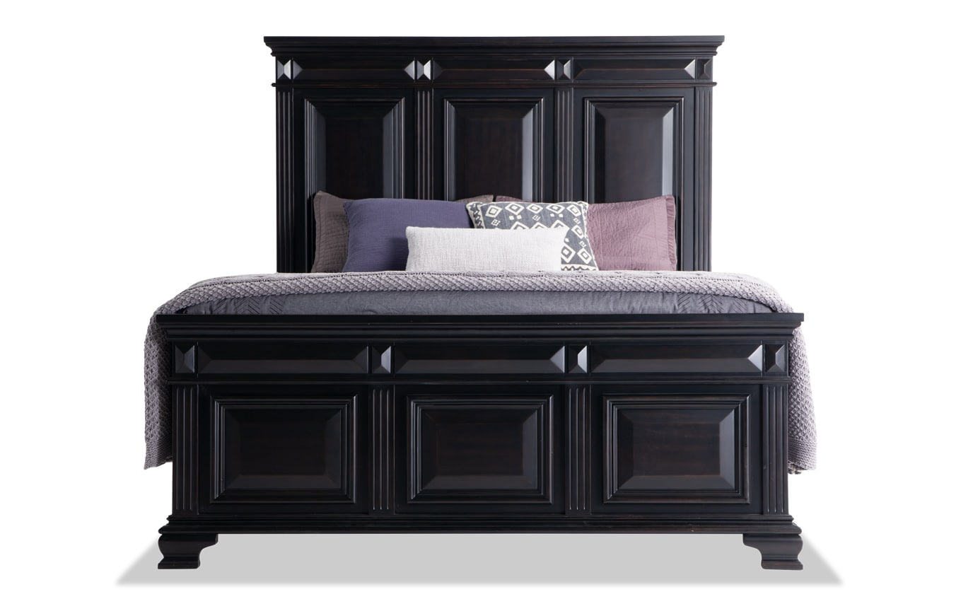 Palisades California King Black Storage Bedroom Set