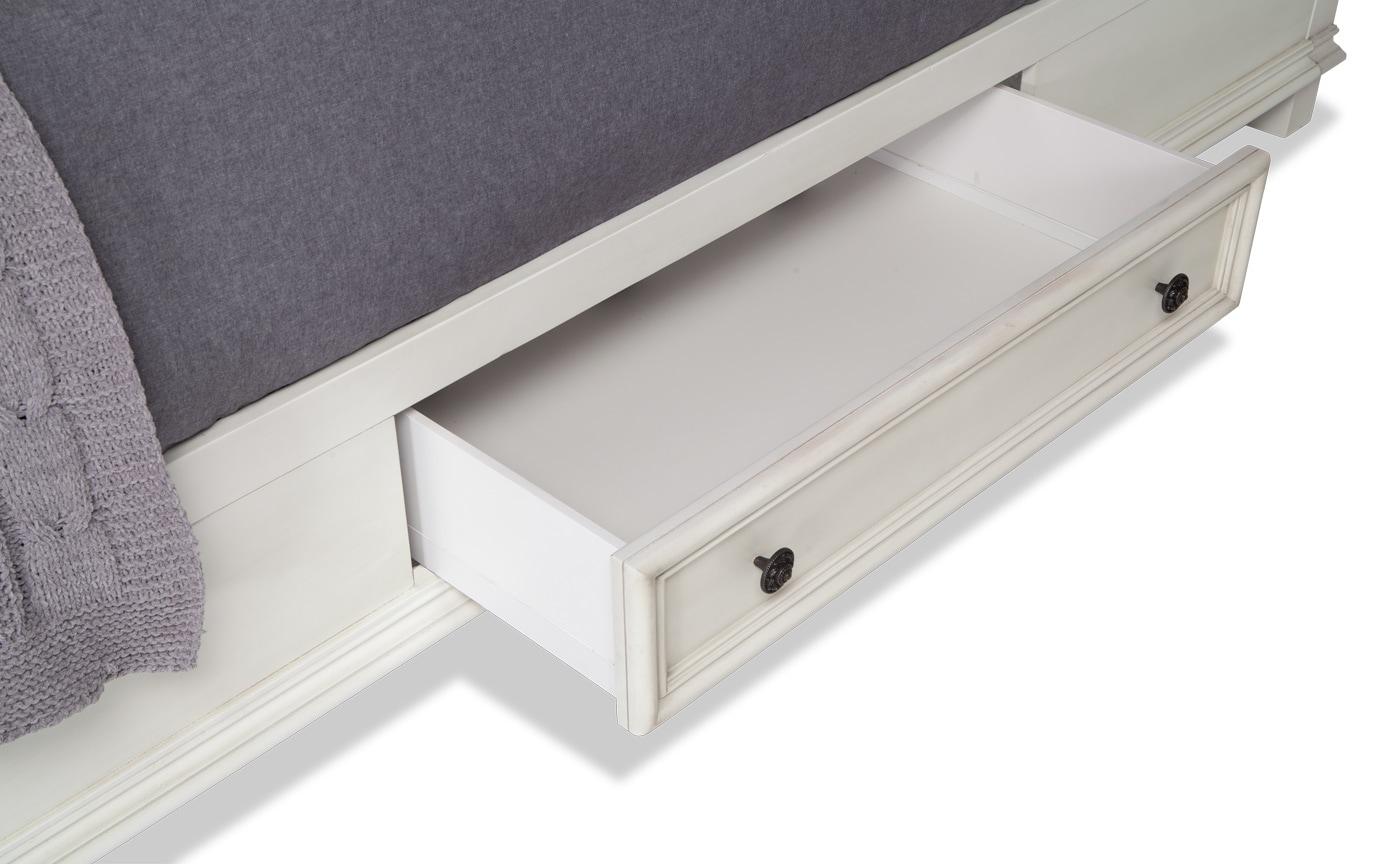 Palisades California King White Storage Bedroom Set