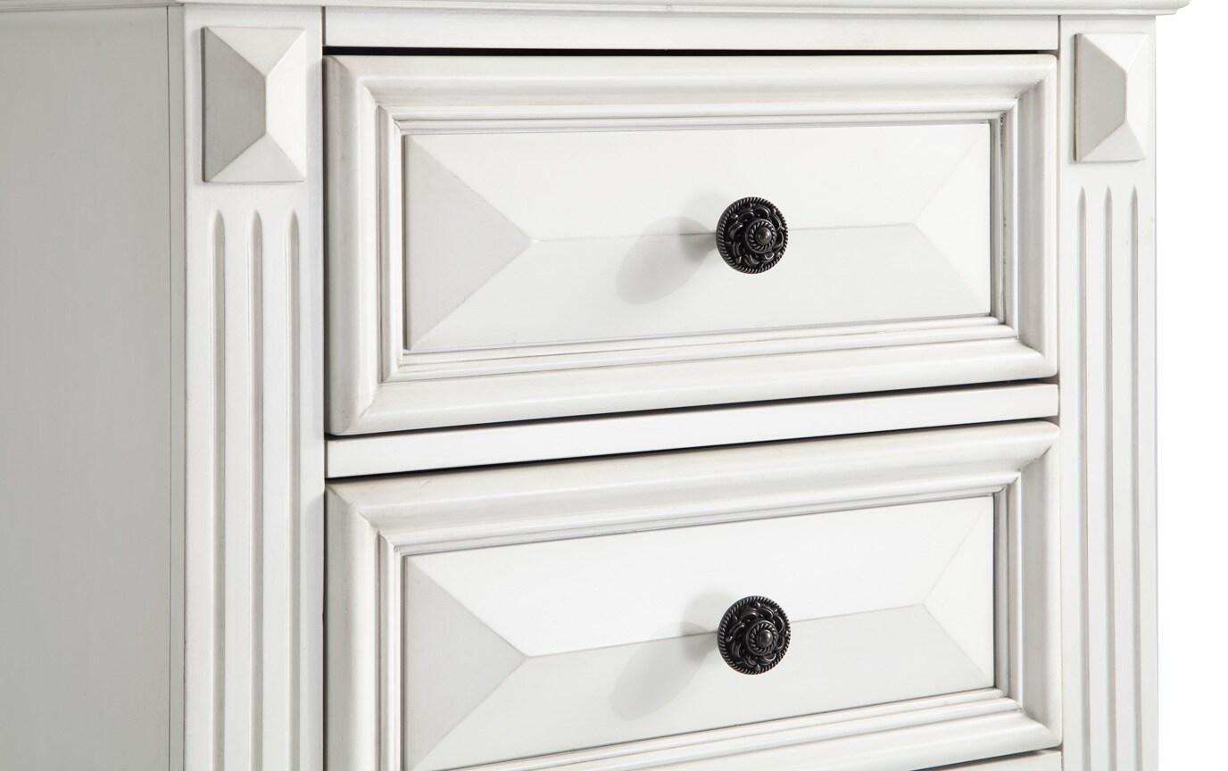 Palisades Queen White Storage Bedroom Set