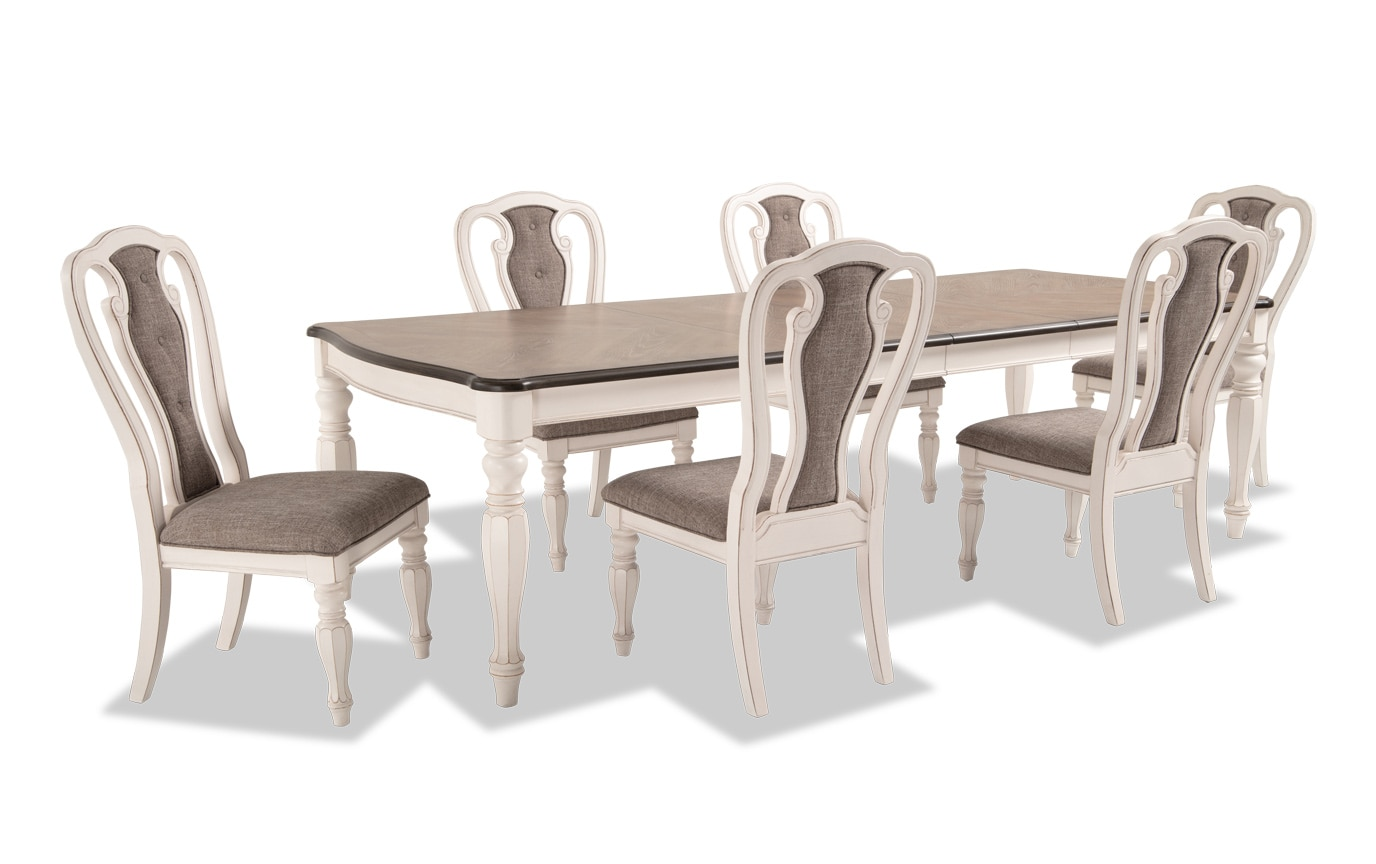 Scarlett 7 Piece Dining Set with Splat Back Side Chairs