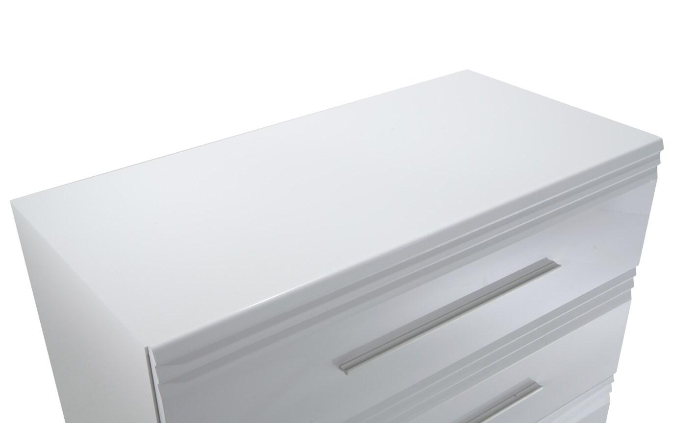 Amalfi White 3 Drawer Chest