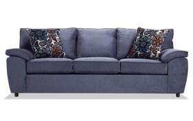 Tristan Navy Floral Sofa
