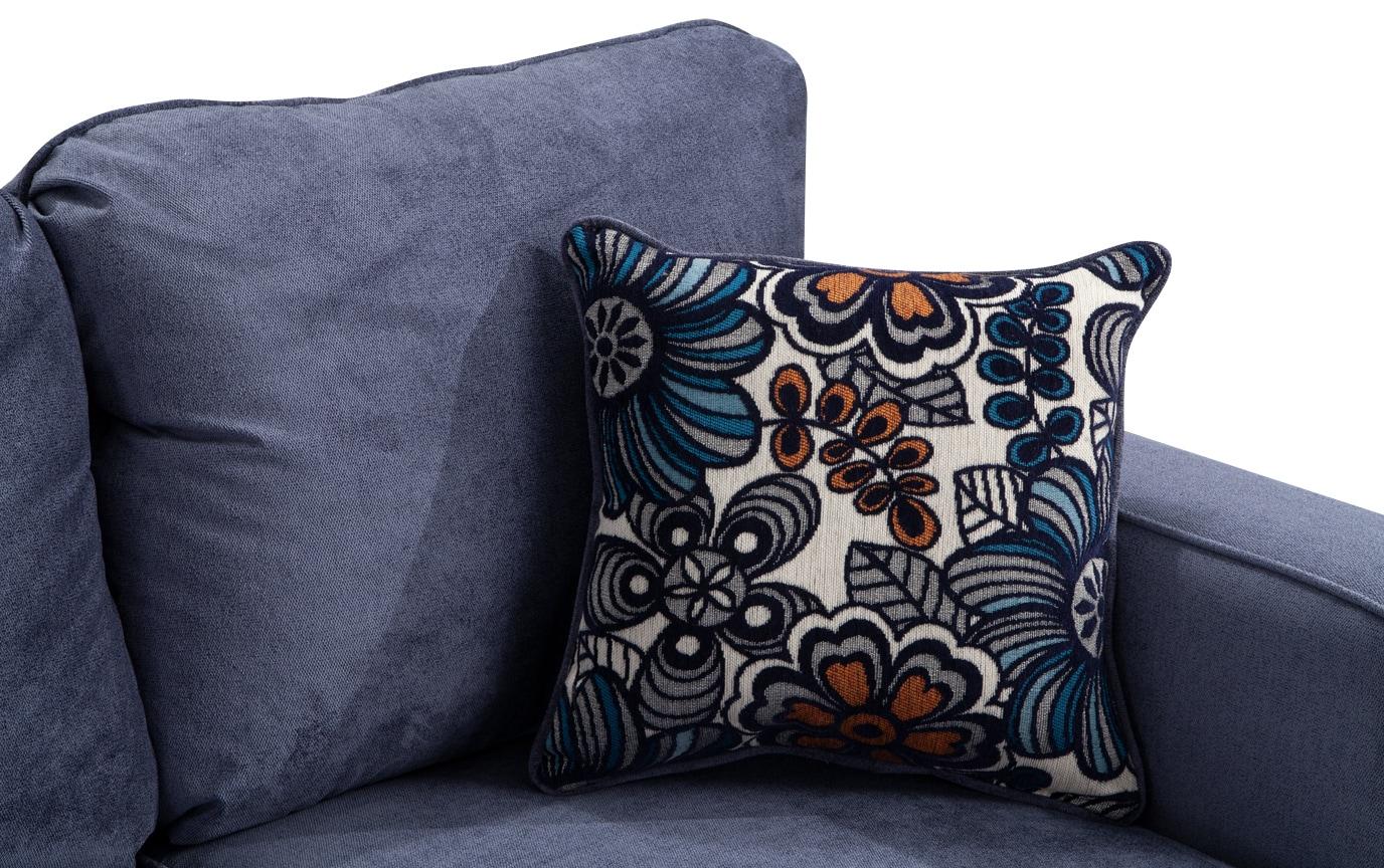 Aubree Navy Floral Sofa