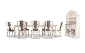 Scarlett 10 Piece Dining Set with China & Splat Back Side Chairs