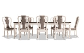 Scarlett 9 Piece Dining Set with Splat Back Side Chairs